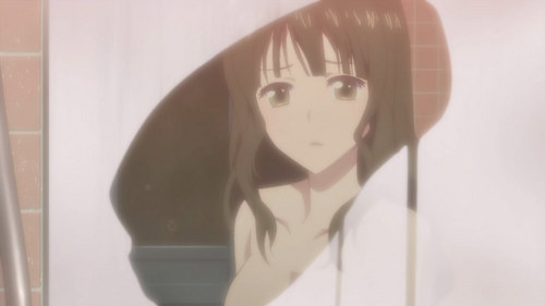 Nako Oshimizu from from Hanasaku Iroha Nako is aggressive and controlling at home, yet shy and quiet at work