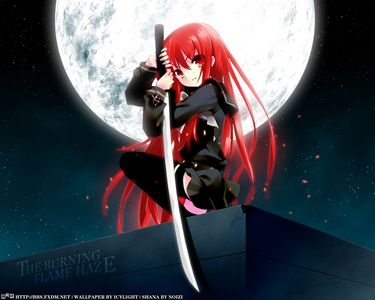 Too easy! Here's a pic of Shana from shakugan no shana! ALL Аниме girls should have Red hair!