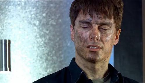 John Barrowman as Captain Jack Harkness in Doctor Who.