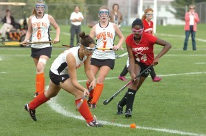 Well, in the fall I do field hockey. In the the winter, I do book club. Then lastly, I do lacrosse in the spring.