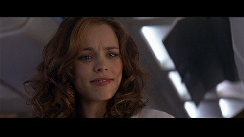 Rachel McAdams inside a plane in Red Eye.
