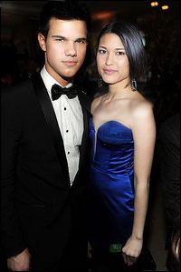 Taylor in a tux with Julia:)