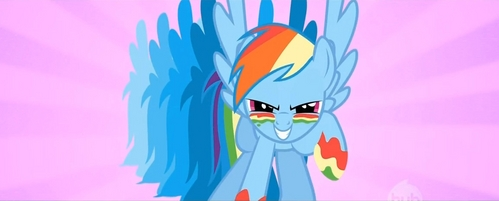 Yup. :) I always created the scenario where I would meet regenbogen Dash but It's never gonna happen :(