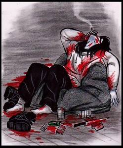 As hard as the swali is, it would have to be Jeff The Killer