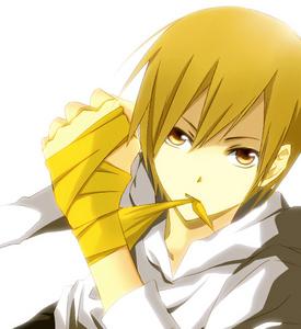 Numbers 7-10 change around a lot though. But here's my current 最佳, 返回页首 10: 1) Giotto (Katekyo Hitman Reborn!) 2) Japan/Kiku Honda (Hetalia) 3) Masaomi Kida (Durarara!!) (pic) 4) Erza Scarlet (Fairy Tail) 5) Kuroko Tetsuya (Kuroko no Basket) 6) Edward Elric (Fullmetal Alchemist) 7) Kazehaya Shouta (Kimi ni Todoke) 8) Isana Yashiro (K/Project K) 9) Stein (Soul Eater) 10) Homura Akemi (Puella Magi Madoka Magica)