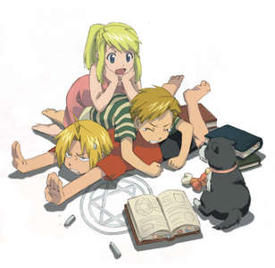 Al, Winry, and Ed