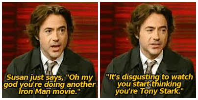 him explaining what his wife (Susan) thinks about him and Tony!^^