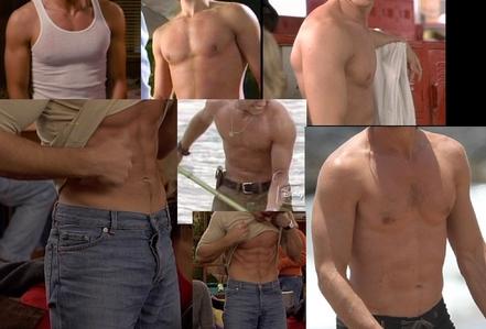 many pics of Matthew's HOT torso!! :P