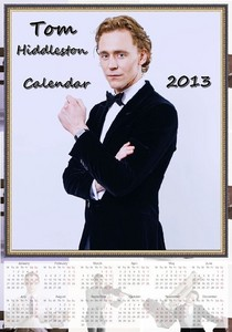 Hiddles looking dashing on his calender
