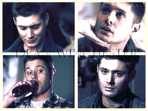 Dean drinking