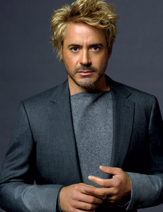 blond downey wearing gray! :))