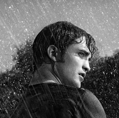 my Robert in the rain<3