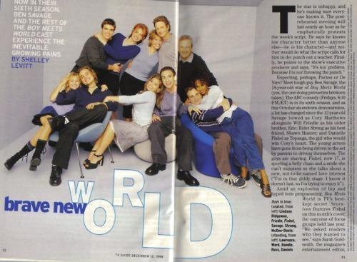Matthew in a magazine, wearing the gray shirt. :)