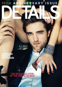 my sexy Robert on the cover of DETAILS magazine<3