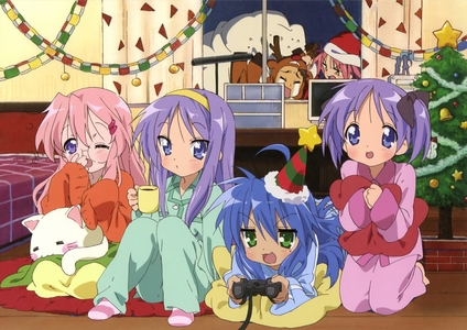 Konata really loves her video games.