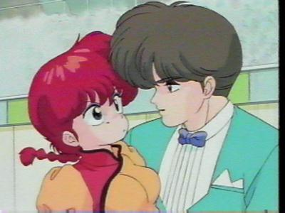 Mikado, the figure skating champ, from Ranma 1/2 has plenty of female peminat-peminat in the show. And he mencuri a Ciuman from poor Ranma when he was in his girl form. I've never seen Ranma so pissed.
