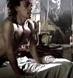 Rob shirtless and young