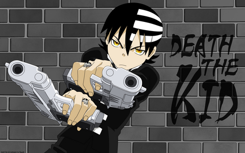 Death the Kid from Soul Eater uses বন্দুক