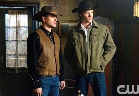 "Jensen Ackles and Jared Padalecki in Supernatural, Episode 6x17 ""Frontierland"""