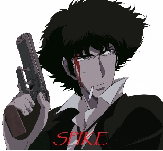 How about Spike in Cowboy Bebop! He Usually Has One.