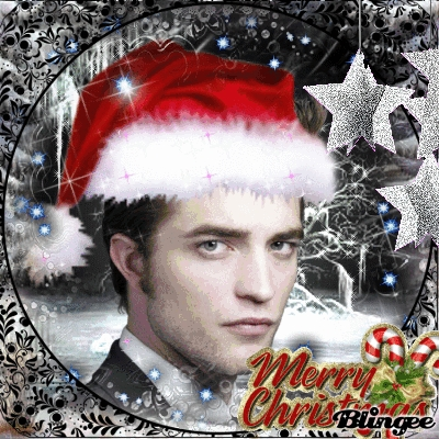 my handsome Rob wearing a Santa hat.I know what I want for Xmas...Rob under my pohon all wrapped up with nothing but a Santa hat on<3