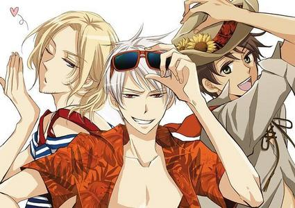 The Bad Touch Trio from Hetalia!! Spain, Prussia, and France! <3