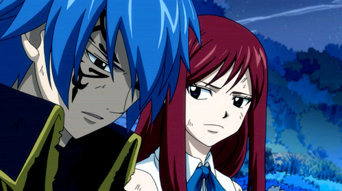 Of course it's Jellal as Gerard. He's the real lover of Erza from the start of Erza's life chemistry... and as I know Natsu and Gray are younger than Erza.. they both were 10 when Erza was 12... and meer importantly Erza loves Jellal meer than anyone... I'm sure of it!!