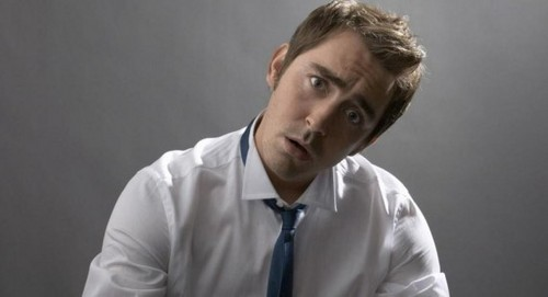 Lee Pace having fun during a photoshoot
