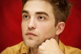 my handsome Robert with a red background<3