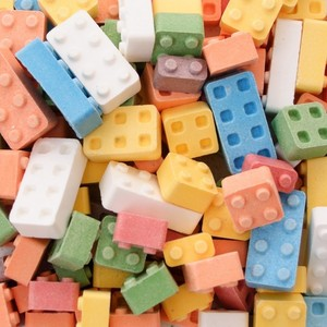 Lego candy. it's fantastic, wewe can build your house, and eat it too.