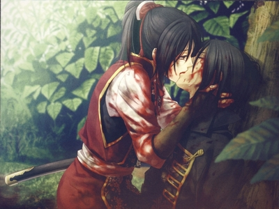 "Hakuouki_Shinsengumi_Kitan Chizuru an hijikata-san ""But I will promise you this.Until the araw I die,I will protect you and pag-ibig you.I will be with you and I won't die until we finally are free."""