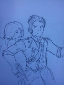 It's fanart for Bioshock Infinite. I drew it out of excitement for it's release and for practice.