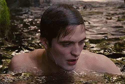 here is my sexy,wet Robert in a scene from BD part 1 in the water.<3
