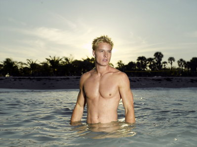 """Justin Hartley in a promo pic for """"Aquaman"""" (which sadly never made into a series)"""