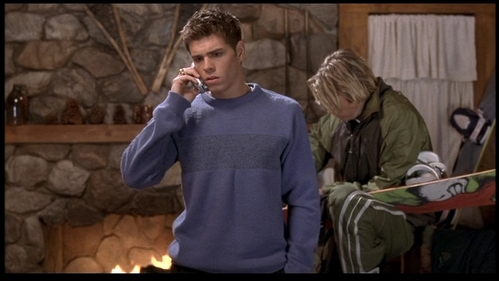 Matthew as Billy in The Hot Chick a bit confused of who is on the phone with him. :)