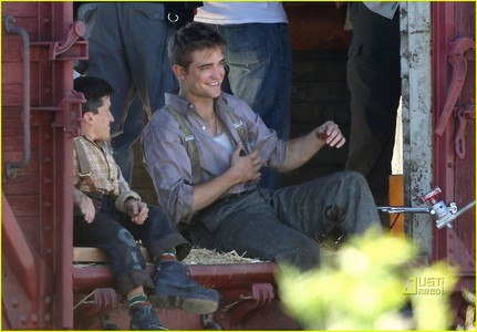my Robert with his Water for Elephants co-star