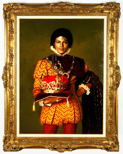 Nice, photoshopped pic. The original is a painting Michael used to have at Neverland...