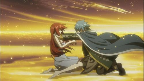 Jellal and Erza of Fairy Tail since they chose not to be together as Jellal's atonement for his sins (even though they pag-ibig each other soo much~~)