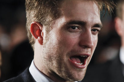 my gorgeous Robert with his mouth wide open<3