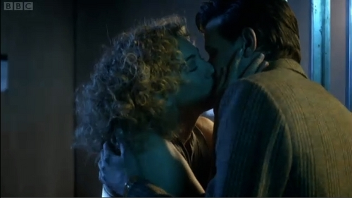 Cutest moment in doctor who! River Song and The Eleventh Doctor kiss!