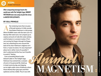 here is my sexy Robert featured in a magazine article,with a pic of him<3