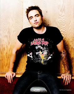 my sexy,hot Robert wearing a シャツ with words on it<3