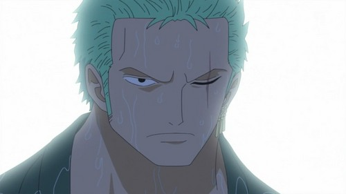 zoro from one piece he has one scar on his left eye