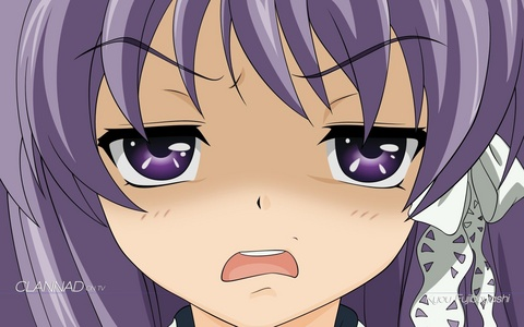 Kyou! Doesn't take much to piss her off. XD