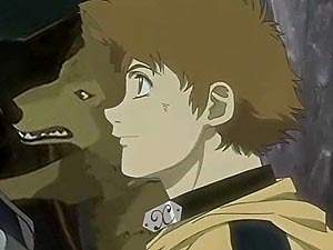 probably hige o toboe from wolf's rain