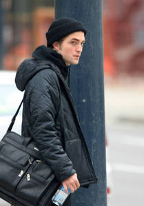 here is my Robert with a bag on his shoulder.This pic I haven't used yet<3