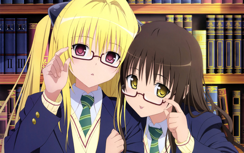 Yami and Mikan from To Cinta Ru.