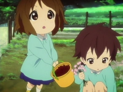 Nodoka and Yui  As kids... They been Friends for ever