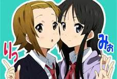 Ritsu and Mio from K-ON!