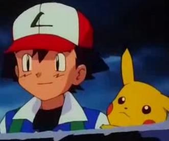 Satoshi-kun (Ash in the english dub) and Pikachu from the Anime Pokemon are very good friends!~